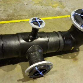 HDPE Spool Tee with custom outlets